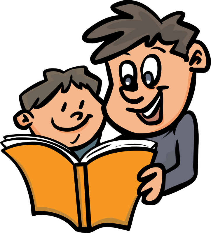 free download Together clip free kid. Parent reading to child clipart