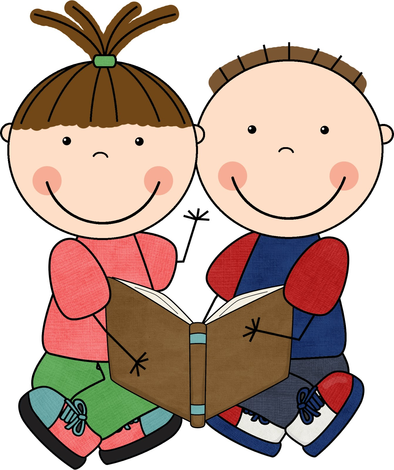 image free Two students working together clipart. Free download clip