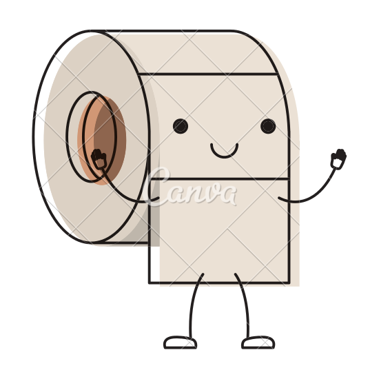 svg transparent download Drawing storage cartoon. Toilet paper roll at