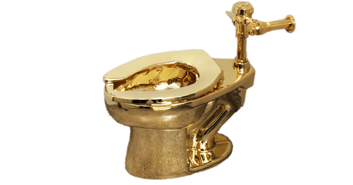 freeuse stock Toilet Gold transparent PNG