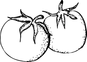 jpg transparent Tomatoes Black And White Clip Art at Clker