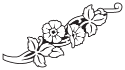 picture freeuse library Tombstone clipart flower. Pencil and in color