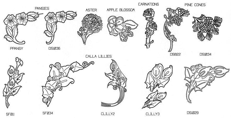 graphic library stock Tombstone clipart flower. Engraved designs samples for