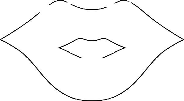 vector transparent stock Tongue clip art black. Beard clipart mouth