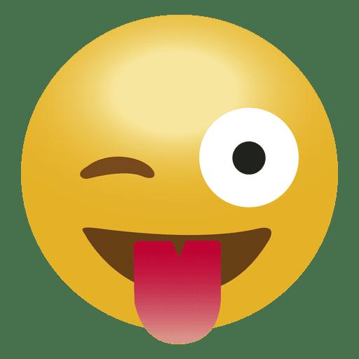vector transparent stock Laugh tongue emoji emoticon