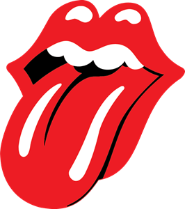 black and white download Vector band gambar. The rolling stones tongue