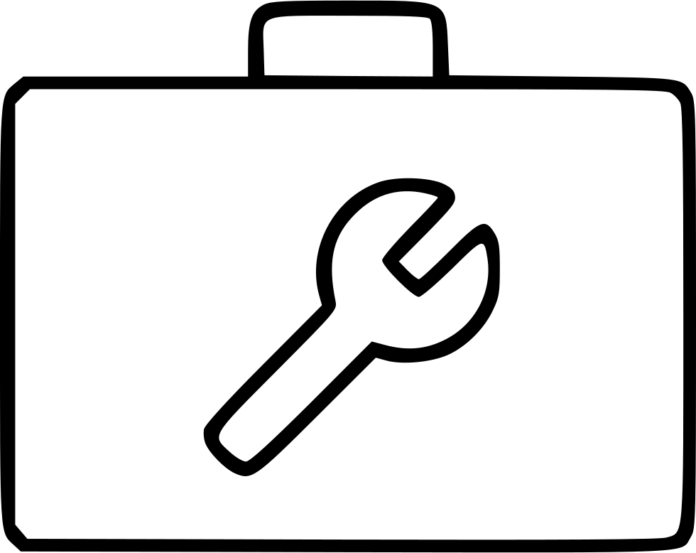 clip black and white Toolbox Builder Service Work Equipment Carpentry Case Svg Png Icon