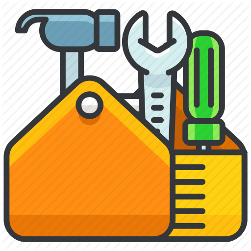 graphic transparent library Maintenance tools by roundicons. Toolbox clipart construction tool