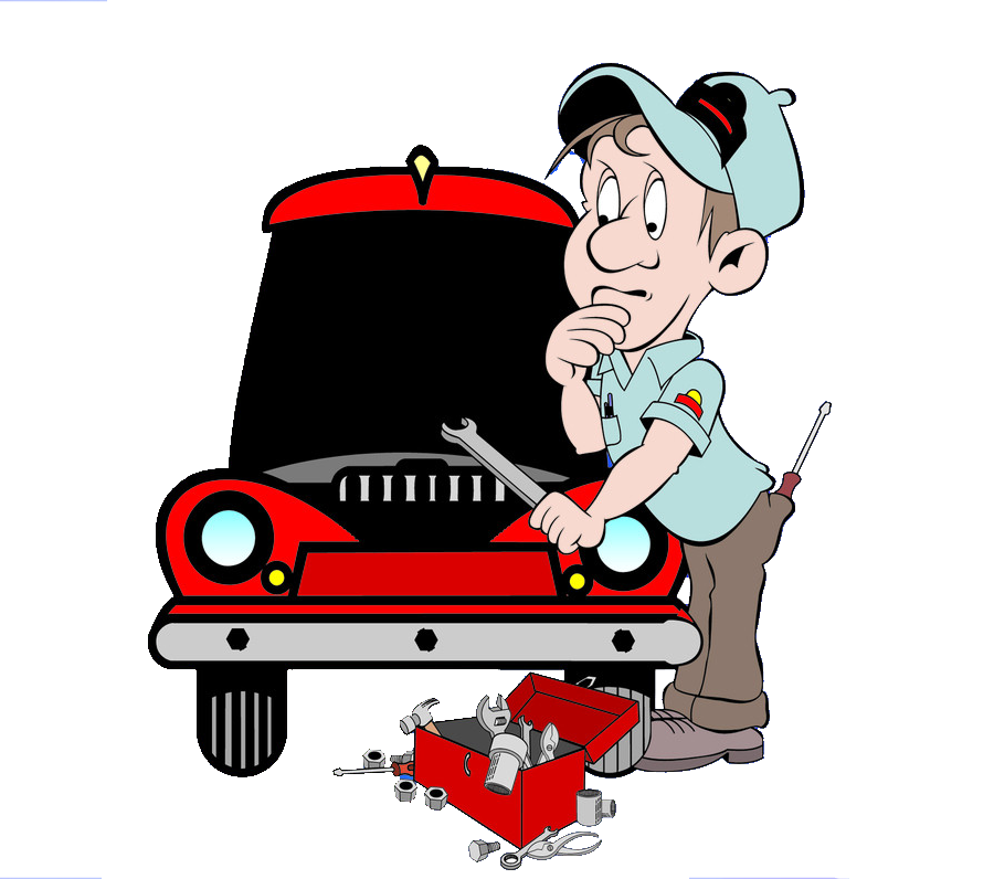 clipart royalty free download Cartoon Auto mechanic