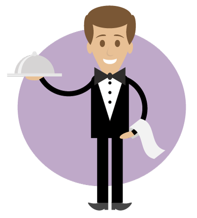 png library Super simple illustration on. Clipart waiter