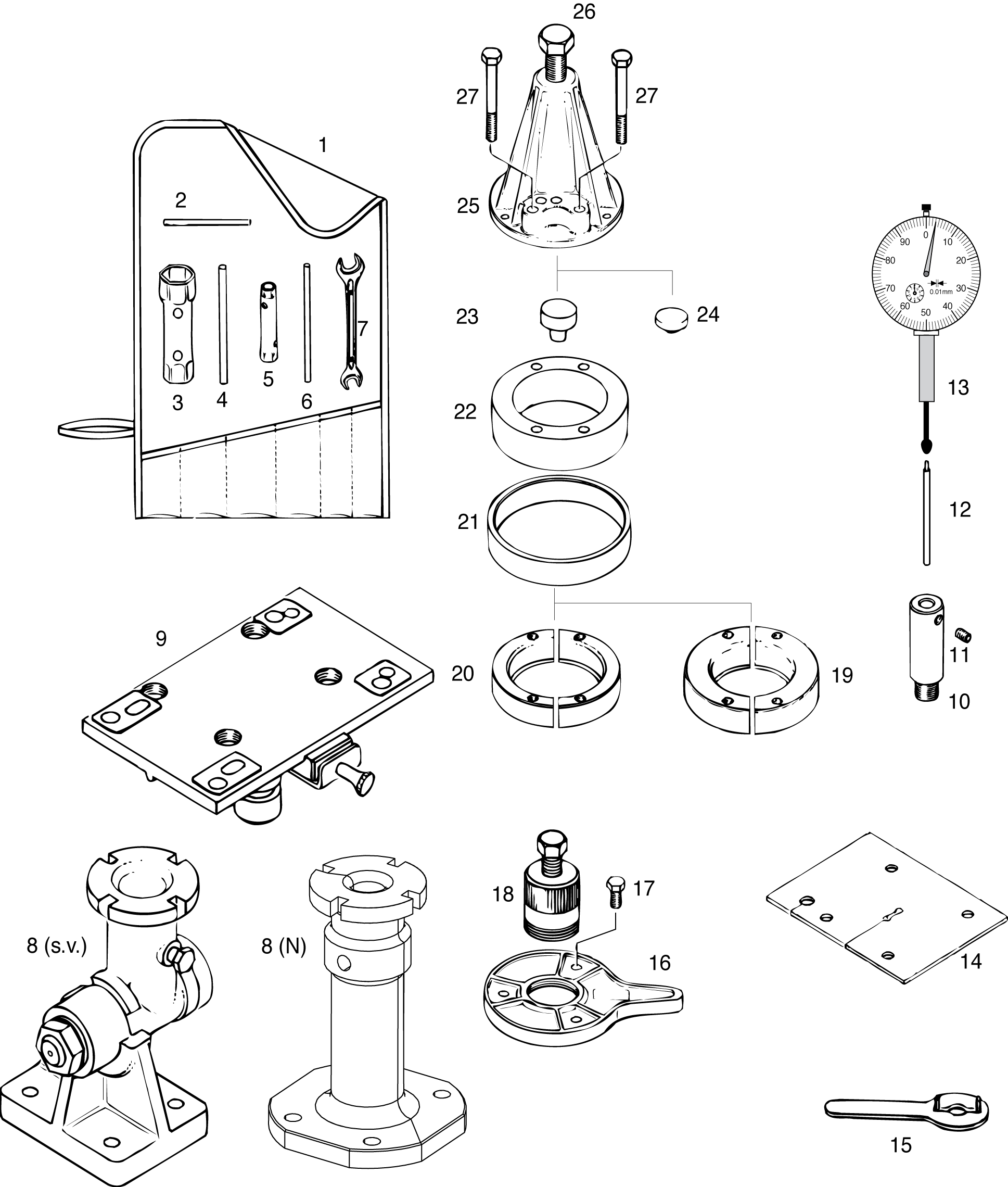 banner black and white library Tools drawing. Mechanic at getdrawings com