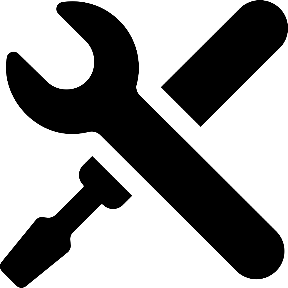 picture transparent stock Settings Symbol Of A Cross Of Tools Svg Png Icon Free Download