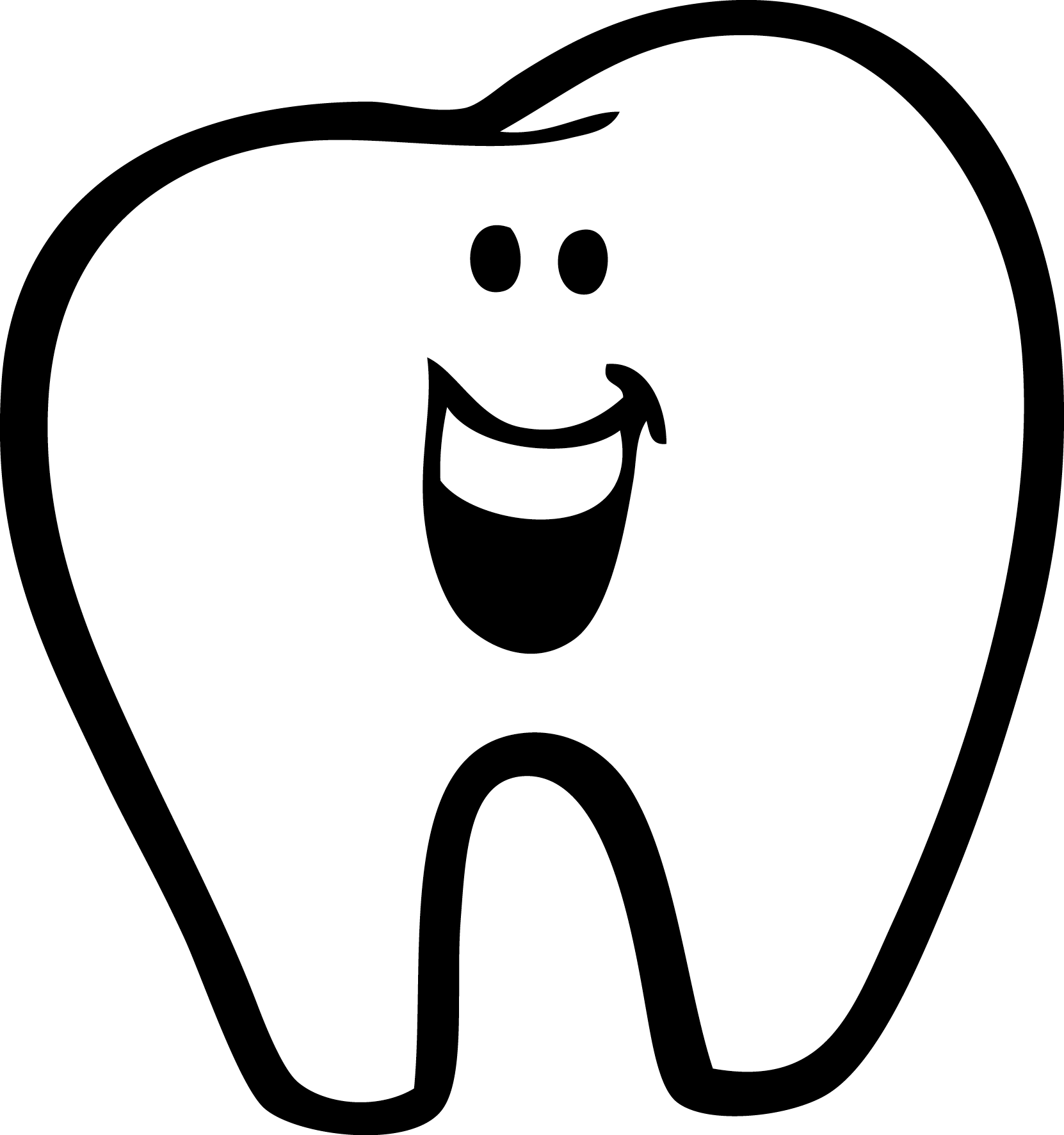 clipart transparent Clip art karangtalun clipartix. Drawing tooth cartoon