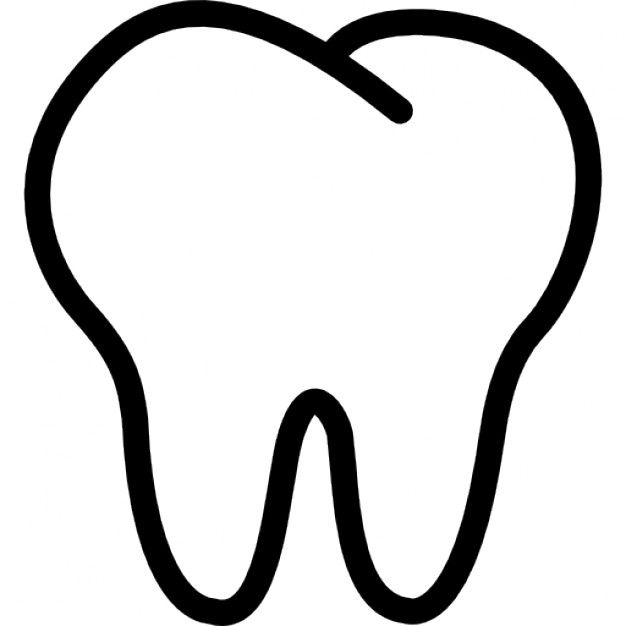 image royalty free download Vector dental tooth outline. Icons free download gift
