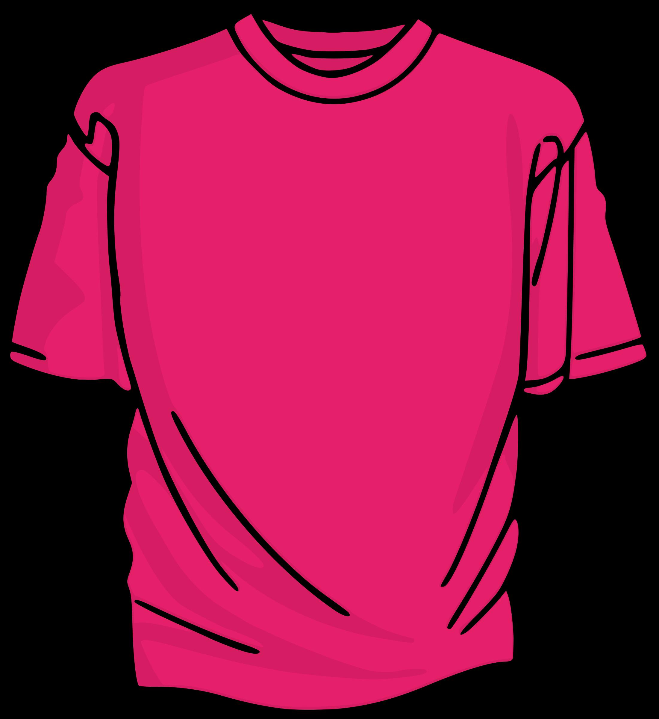 clip freeuse download Pink t big image. Tshirt clipart neon shirt