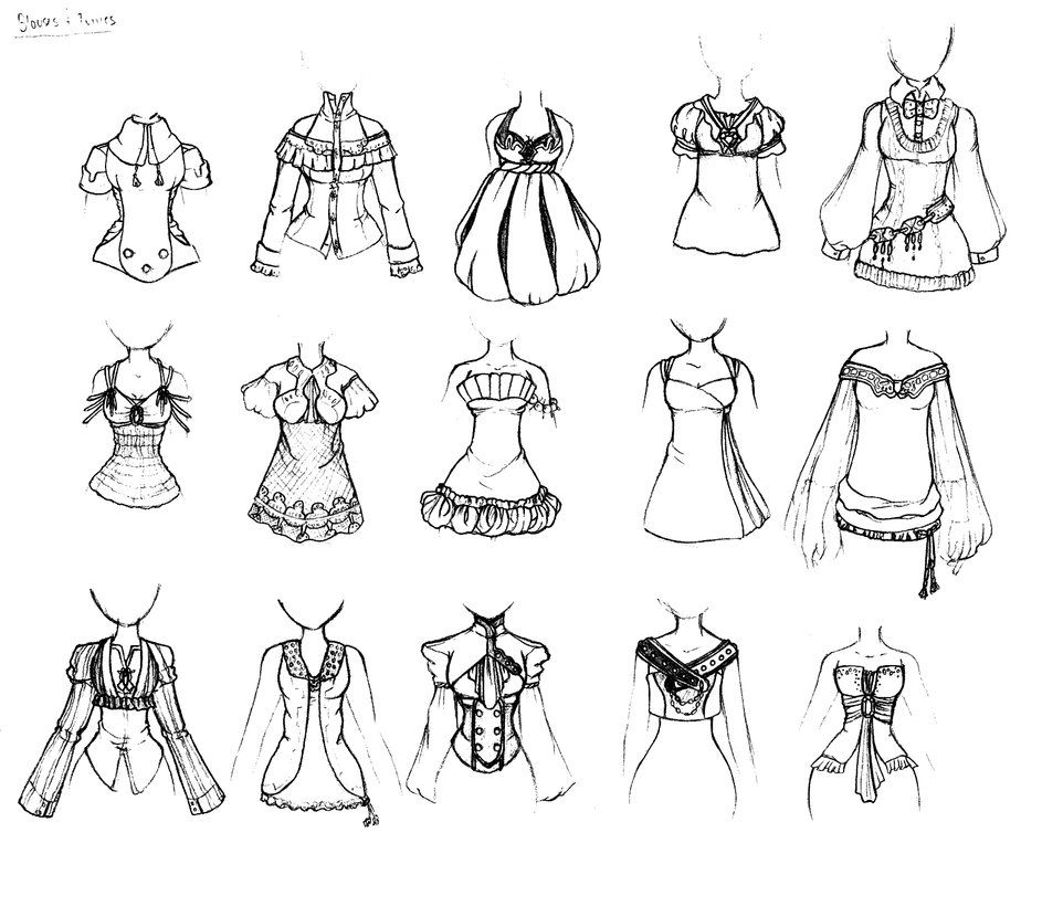 clipart transparent library Tops drawing. Clothing blouses dresses and