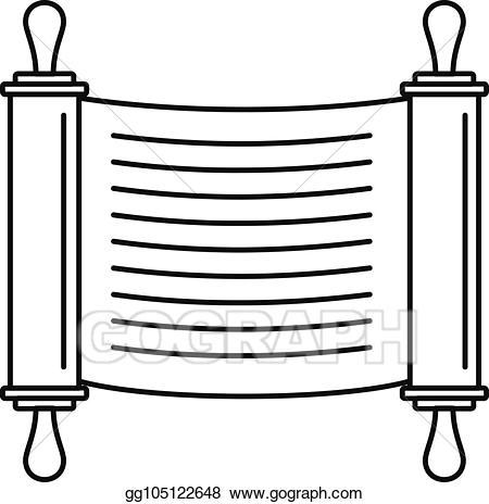 clip freeuse stock Eps vector scroll icon. Torah clipart