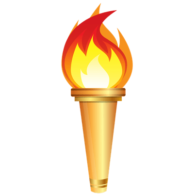 picture black and white library Olympic Torch Clipart transparent PNG