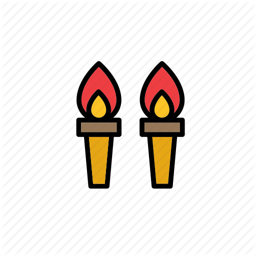 clip library stock By beguima fire flame. Torch clipart medieval