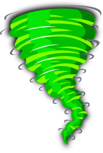 picture freeuse Green clip art at. Tornado clipart