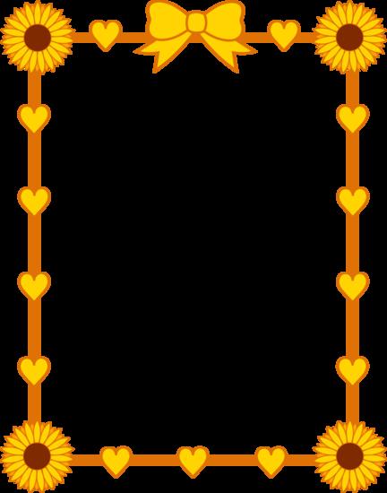 jpg library Sunflower Border Clip Art