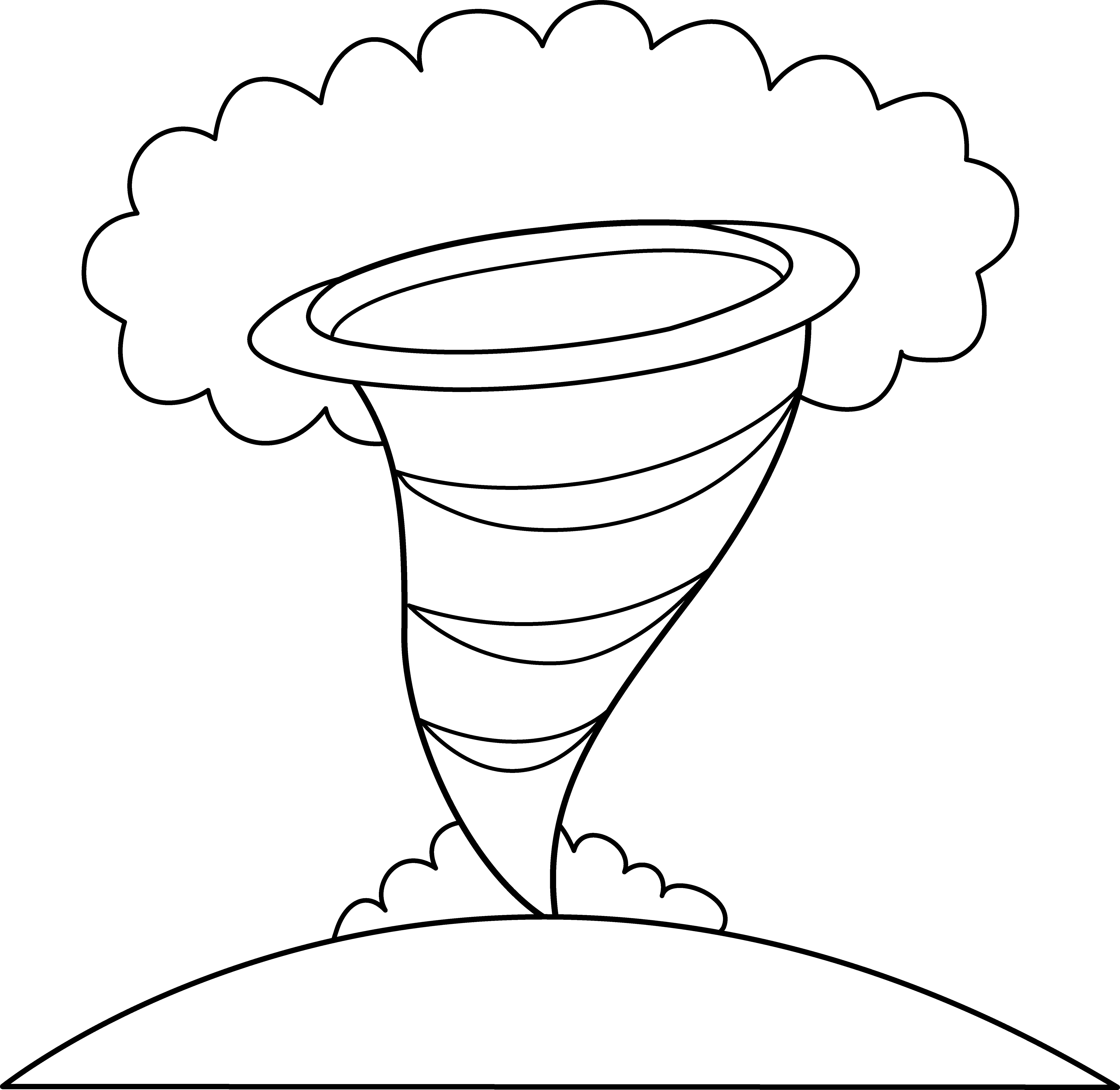 banner freeuse download Tornado Coloring Page Clipart