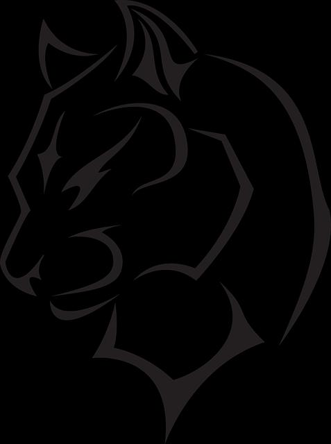 vector transparent wildcat mascot logo