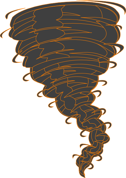 picture freeuse Orange Tornado Clip Art at Clker