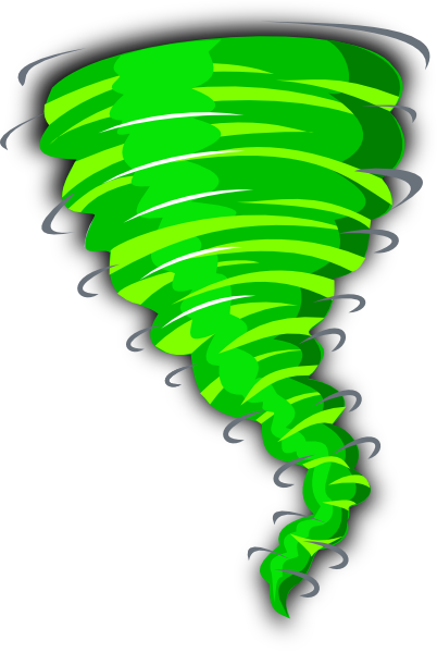 png black and white library Green Tornado Clip Art at Clker
