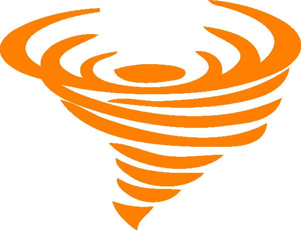 clip art transparent download Orange Tornado Clip Art at Clker