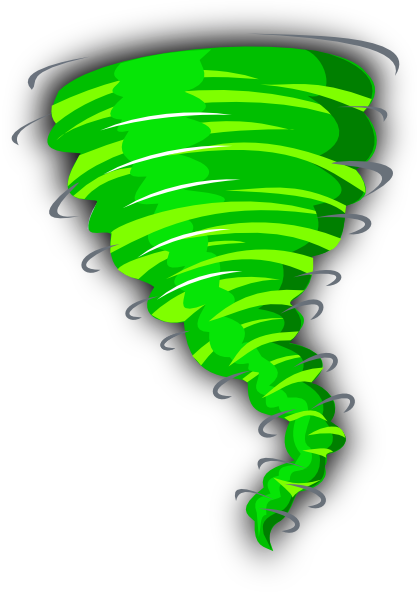 graphic library library Green Tornado Clip Art at Clker