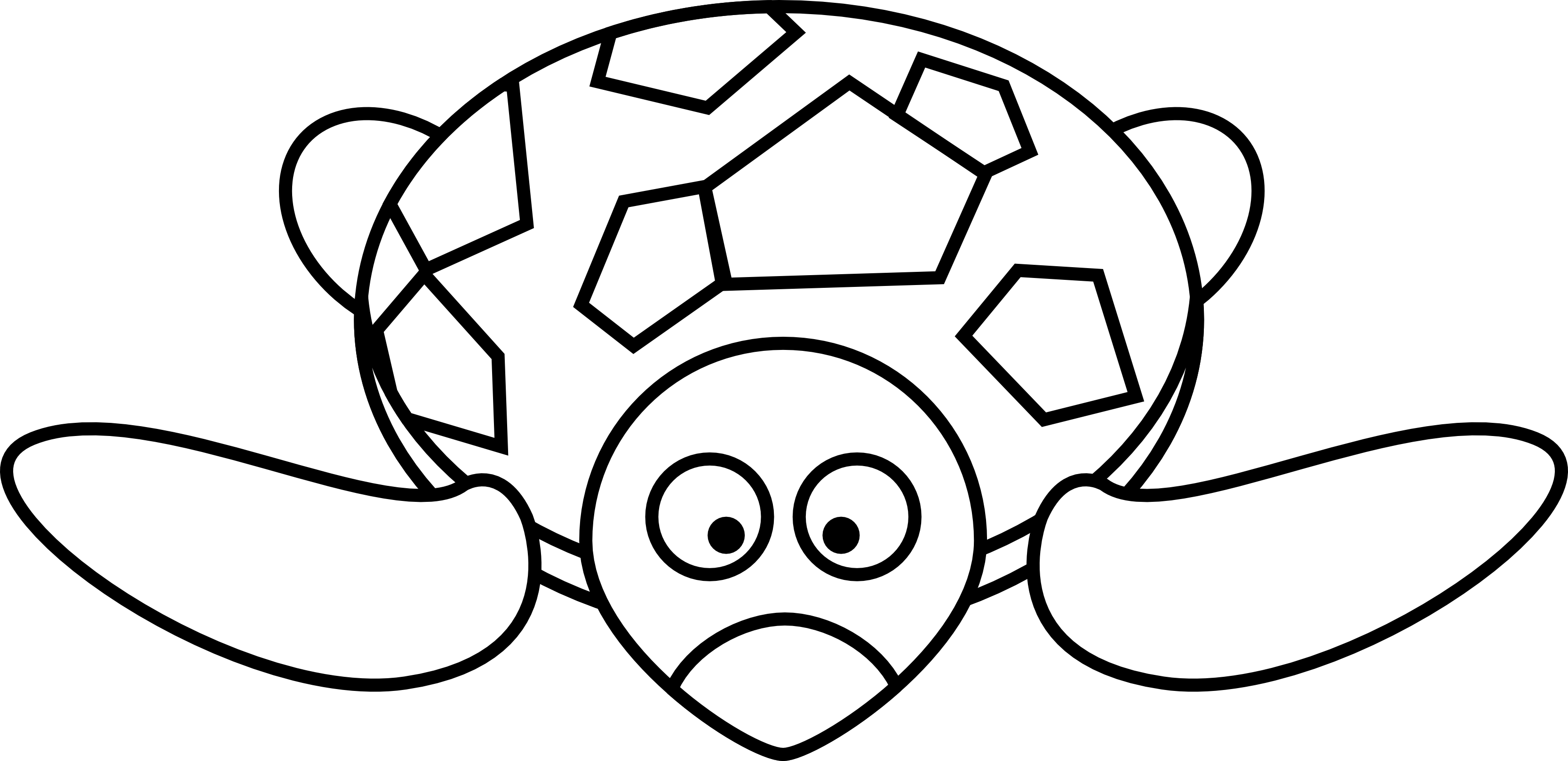 clip black and white library Cute turtle panda free. Tortoise black and white clipart