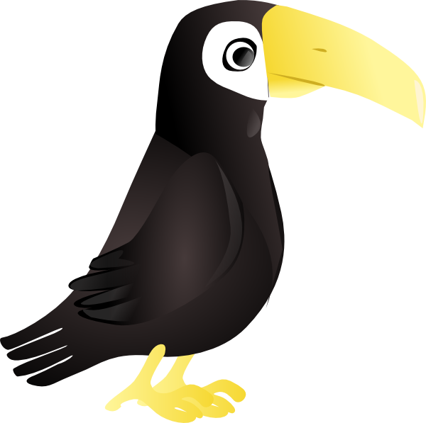 svg free Simple clip art at. Toucan clipart