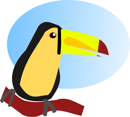 vector free stock toucan clipart blue #85049691