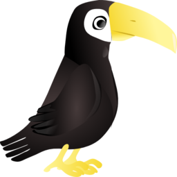 clip art black and white download Simple Toucan Clipart