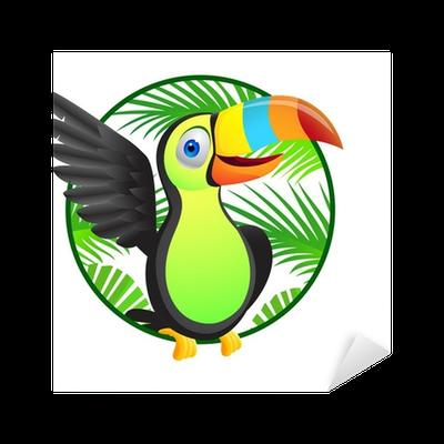 banner library stock Toucan bird cartoon Sticker