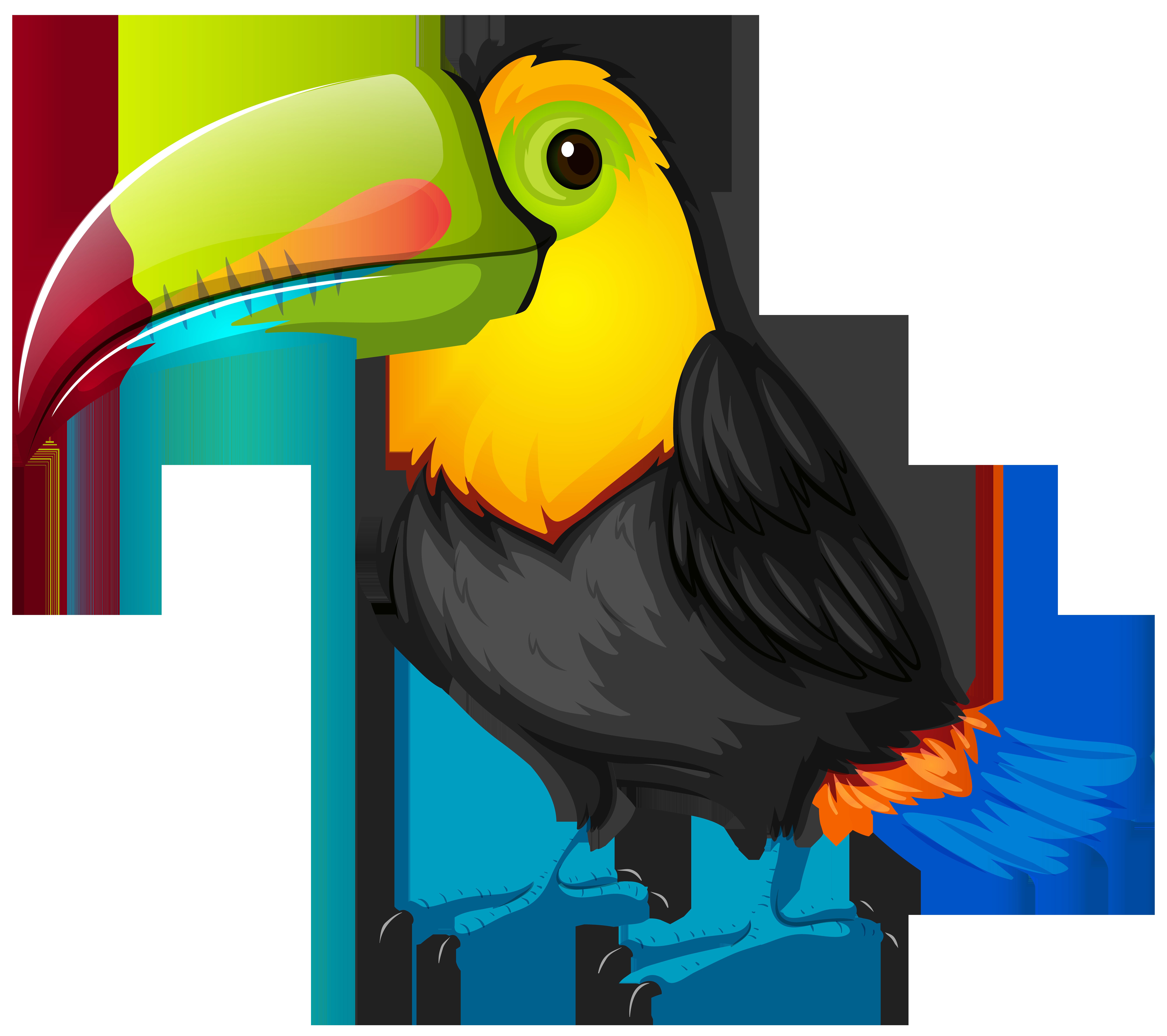 clip art royalty free download Bird Toucan Parrot Cartoon