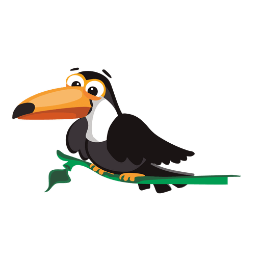 svg transparent stock Toucan vector. Sitting on branch transparent