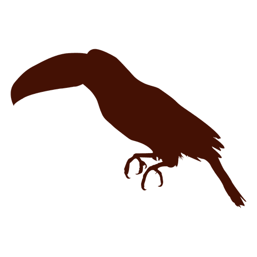 graphic black and white library Bird transparent png svg. Toucan vector silhouette