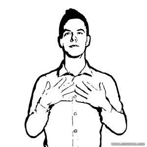 image freeuse library Block drawing person male. Body language trainer the