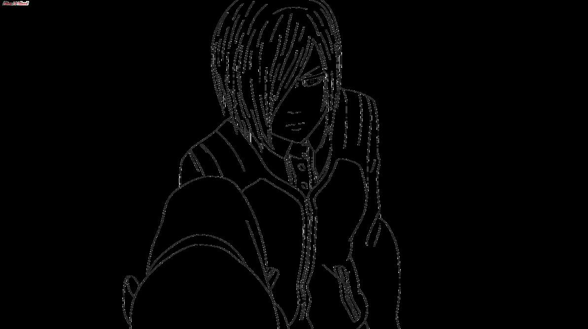 png free stock Tokyo ghoul kirishima lineart. Touka drawing