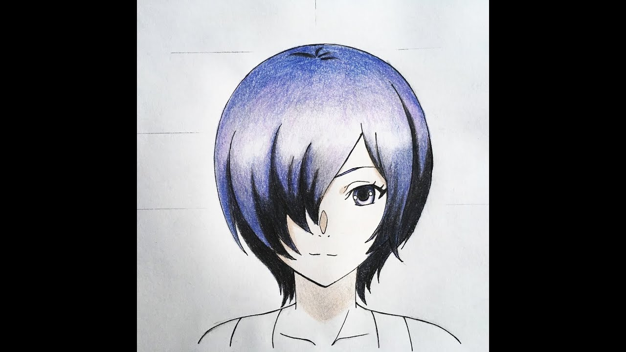 jpg royalty free download How to draw . Touka drawing