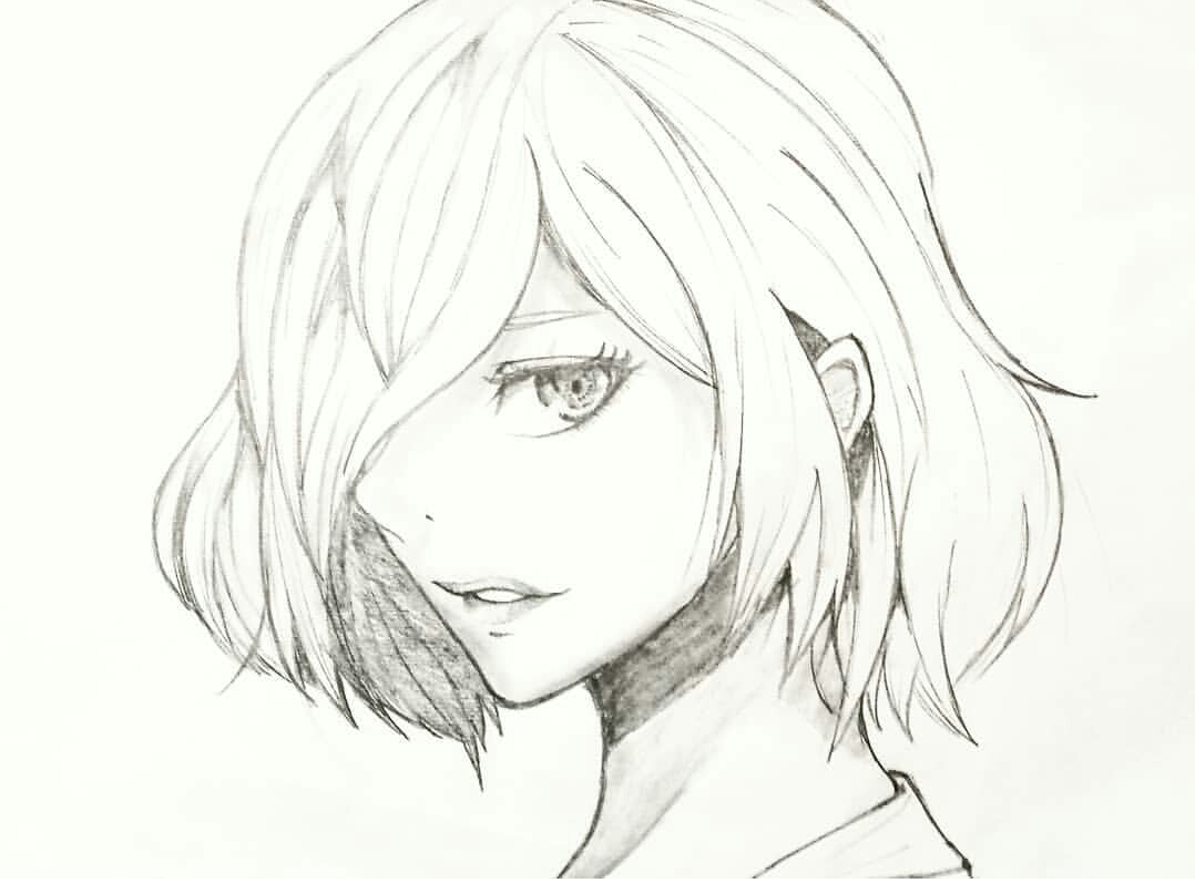 clip art royalty free stock Touka drawing. Did a of kirishima