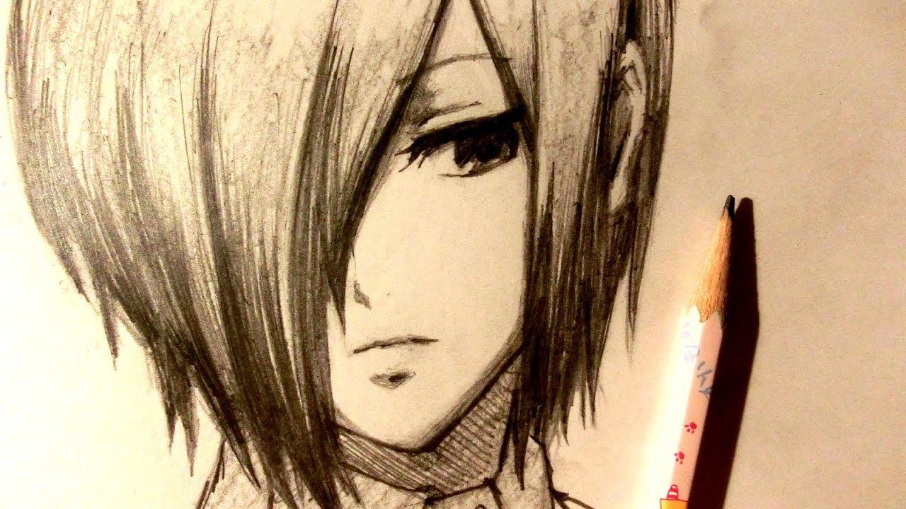 jpg royalty free stock Touka drawing. Asmr pencil kirishima request