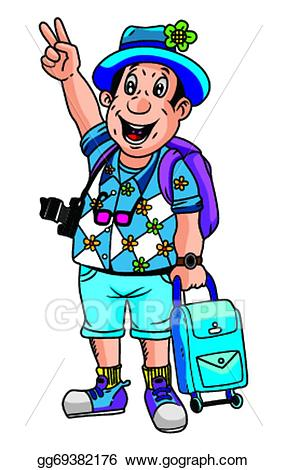 png freeuse stock Tourist clipart. Vector stock illustration gg