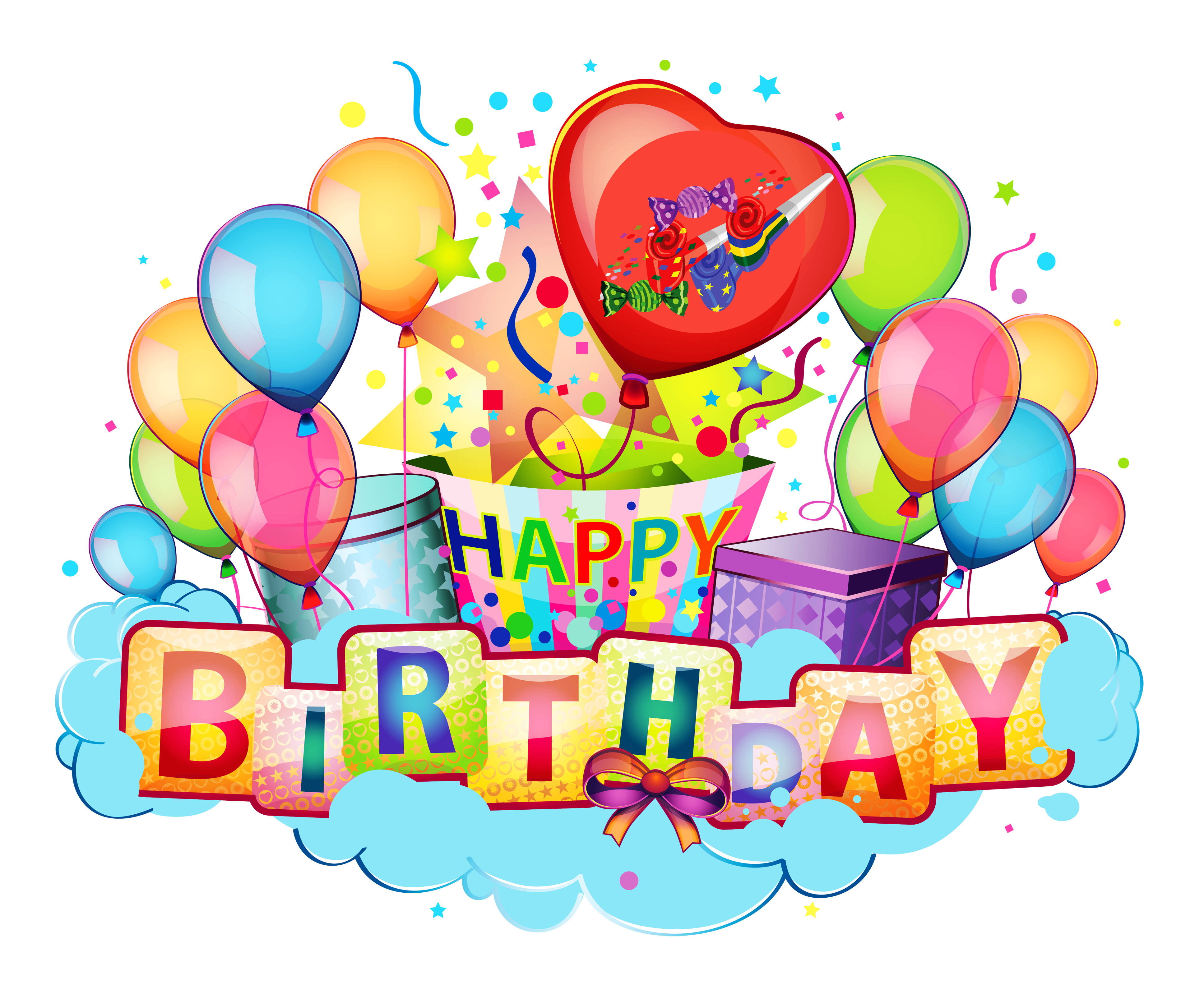 clip art royalty free download Happy Birthday Decor Transparent Clipart Picture