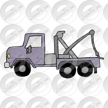 vector free stock Truck picture for classroom. Tow clipart