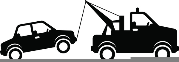 image transparent Truck towing a car. Tow clipart