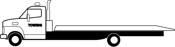 banner stock Tow clipart. Flatbed truck