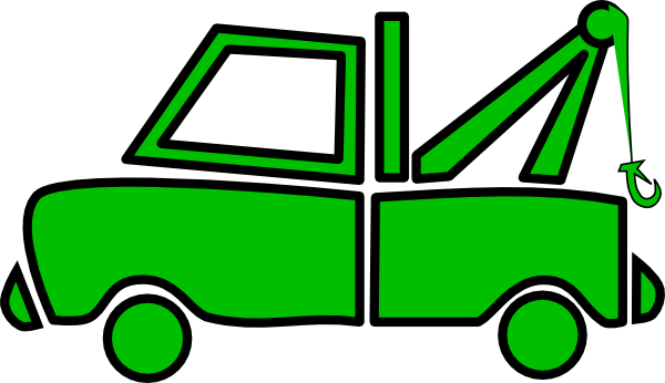 svg transparent download Green Tow Truck Clipart